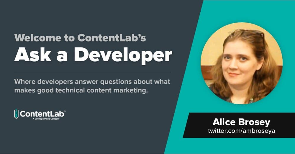 Ask a Developer: SEO Matters to Alice Brosey