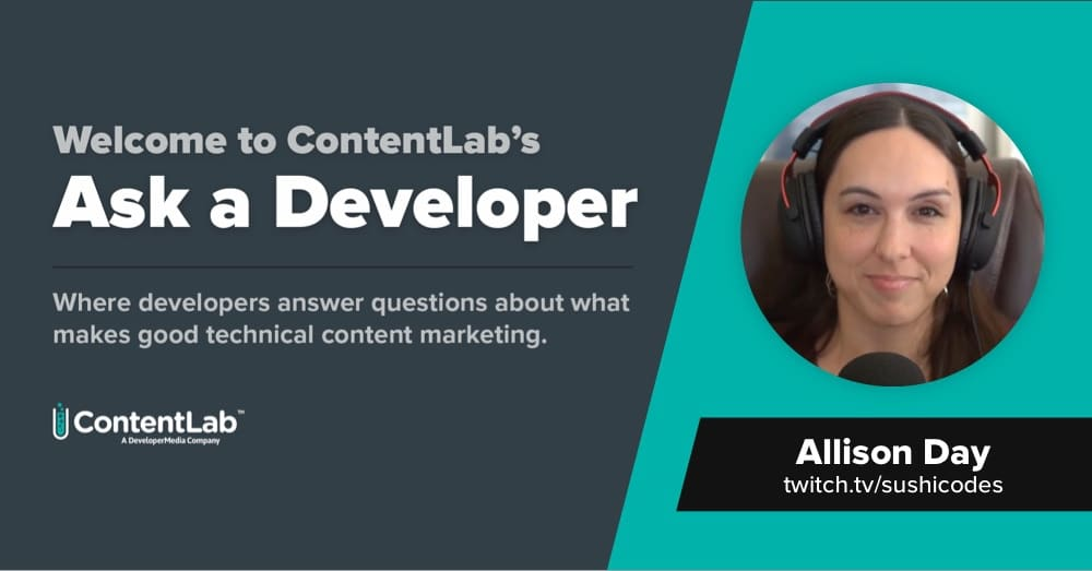 Ask a Developer: Allison Day Values Practitioner Content